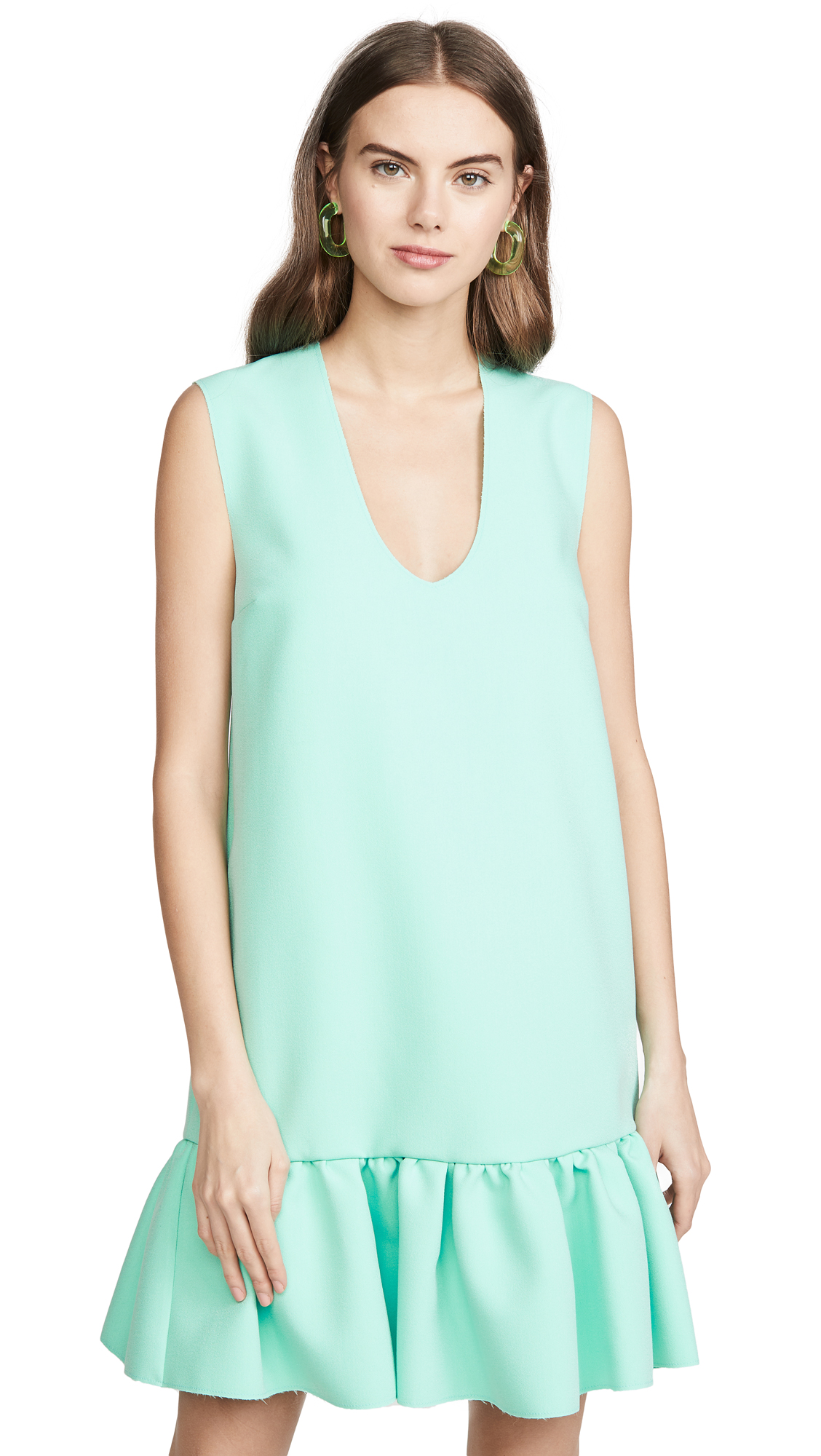 Buy MSGM online - photo of MSGM Drop Ruffle Waist Shift Dress