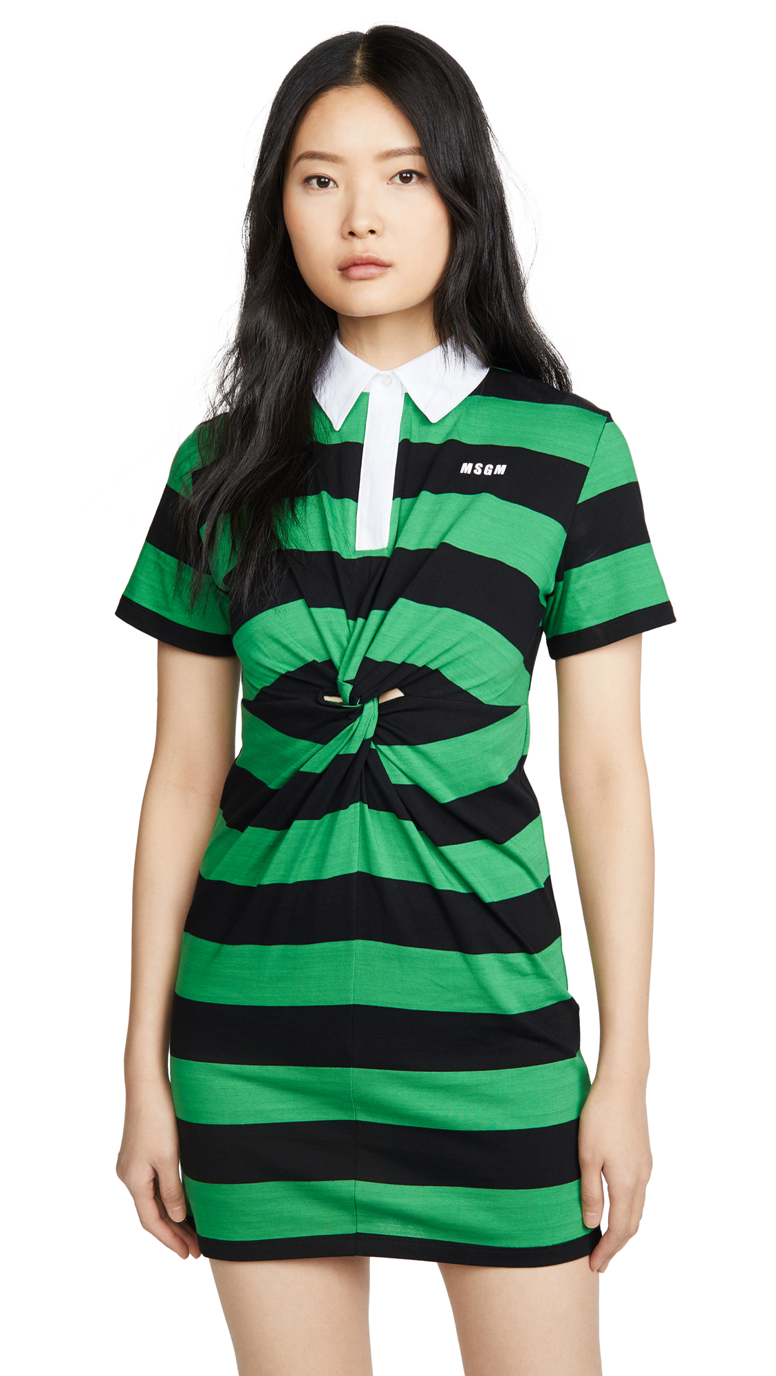 MSGM Short Sleeve Rugby Dress - 55% Off Sale