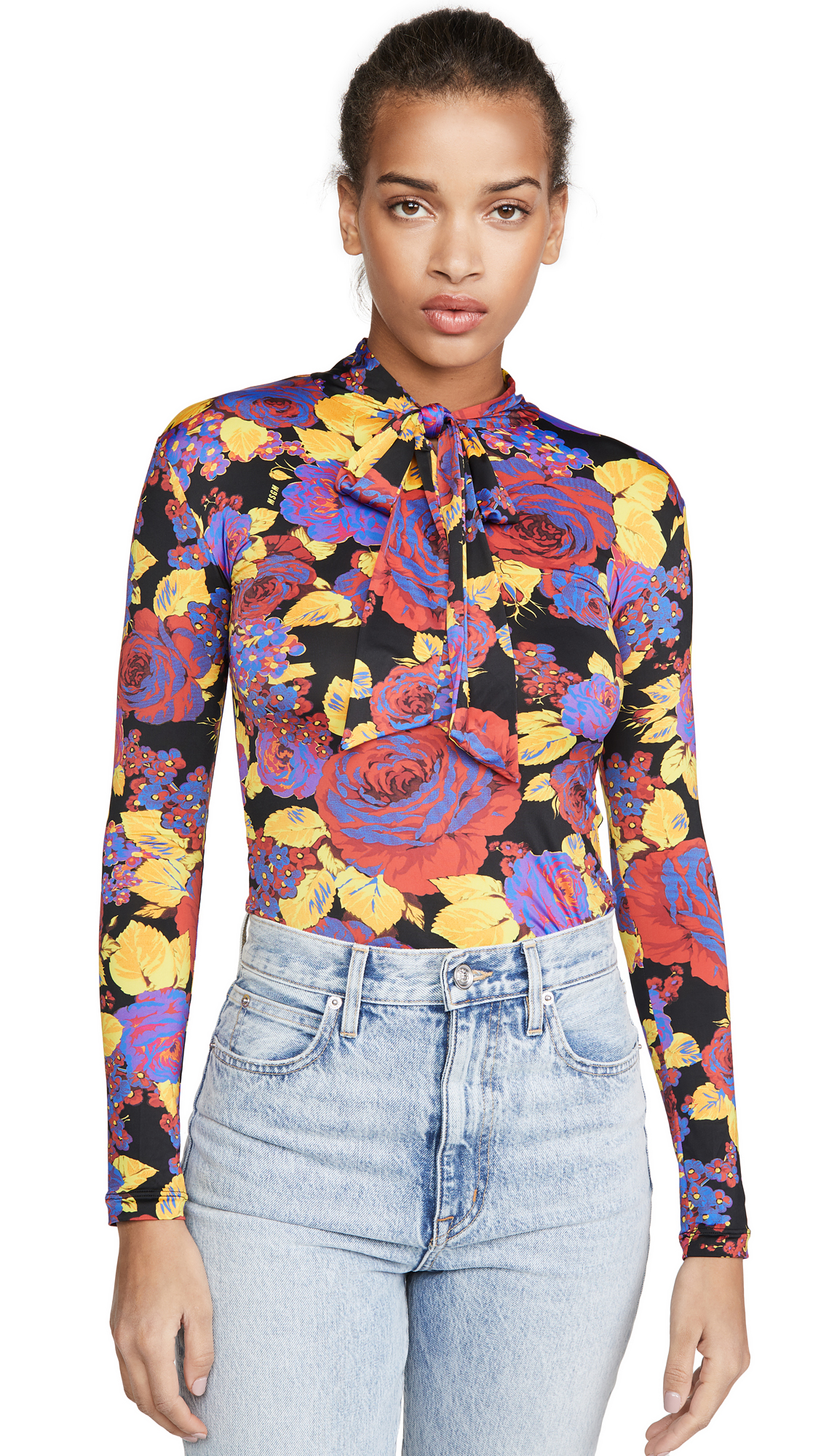 Buy MSGM online - photo of MSGM Tie Neck Blouse