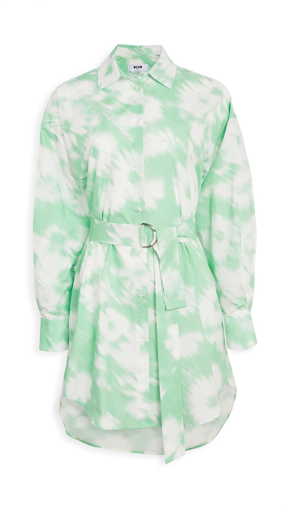 MSGM Tie Dye Shirt Dress - 30% Off Sale