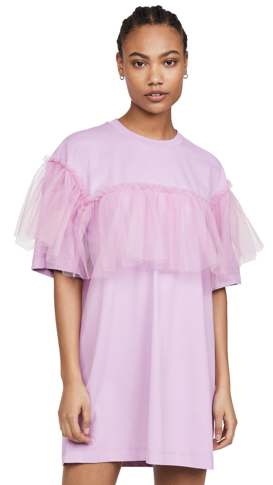 Buy MSGM Ruffled Organza T-Shirt Dress online beautiful MSGM Clothing, Dresses