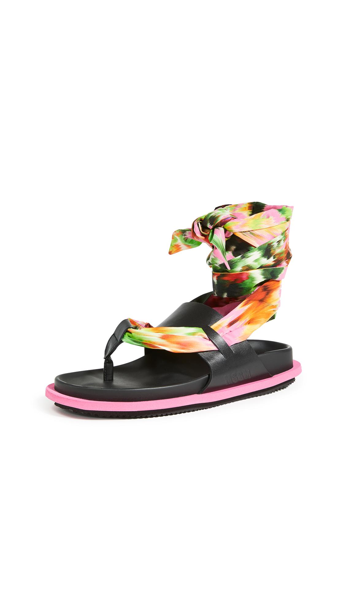 MSGM Scarf Flip Flops – 40% Off Sale