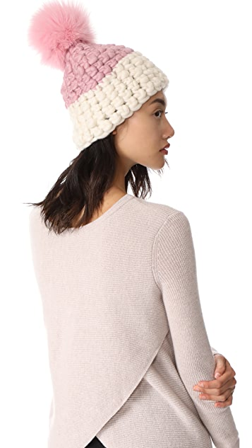 Mischa Lampert Deep Beanie Colorblock Hat