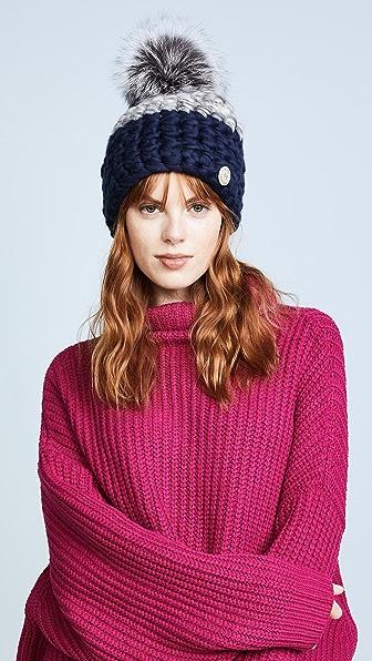 Mischa Lampert Deep Beanie Colorblock Hat
