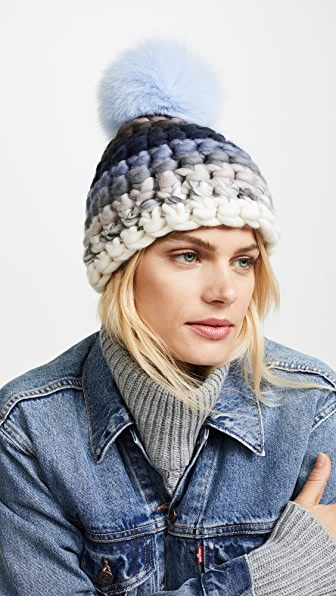 Mischa Lampert Striped Beanie Hat