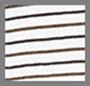 Off White/Chocolate Stripe
