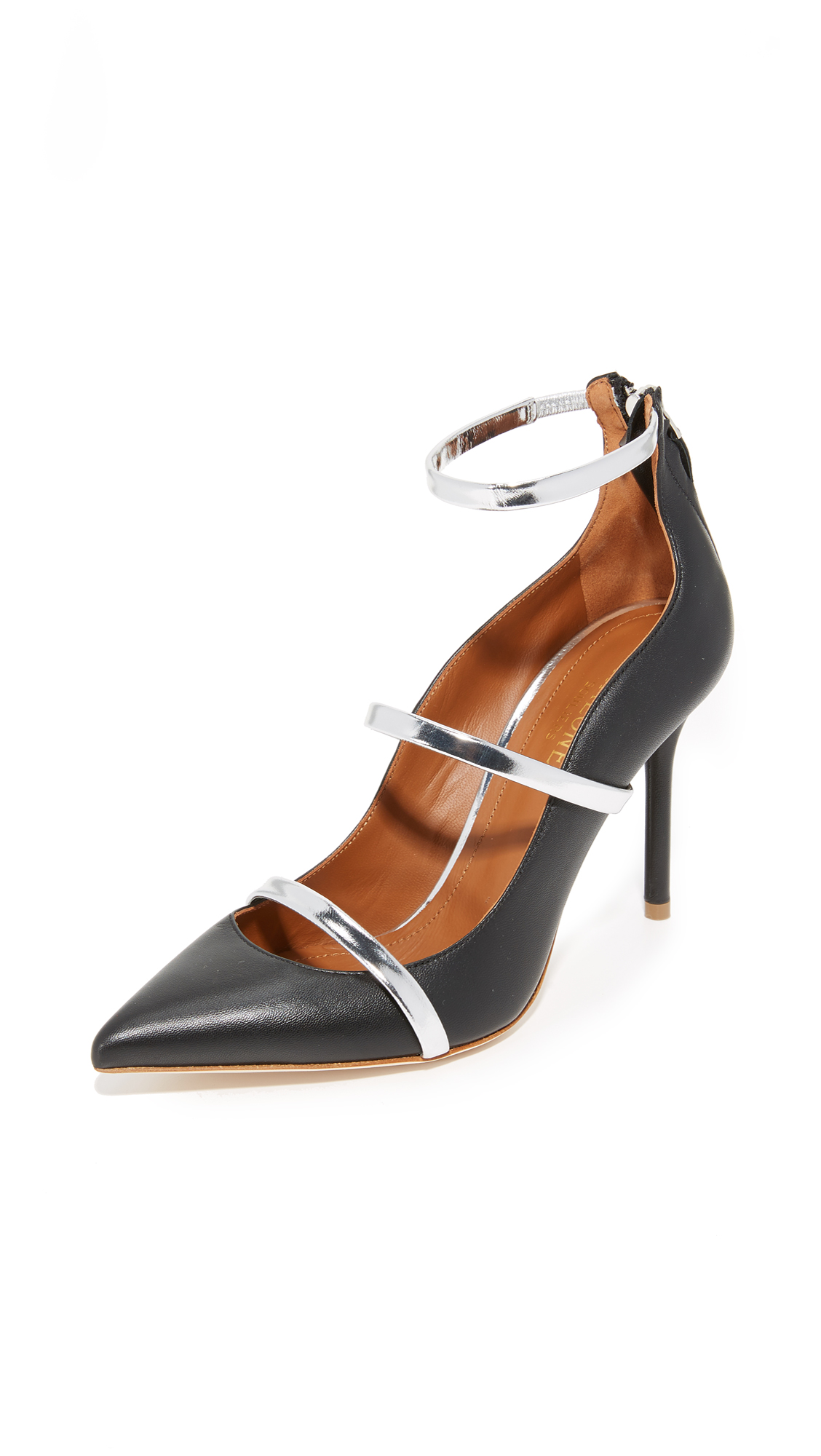 Malone Souliers Robyn Pumps - Black/Silver
