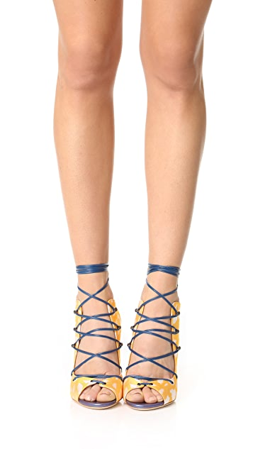 Malone Souliers Savannah Lace Up Sandals