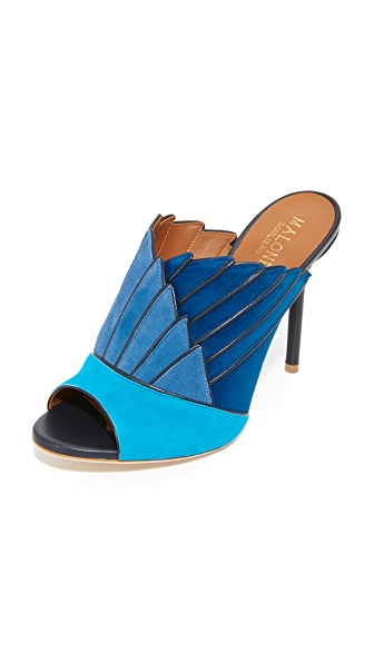 Malone Souliers Donna Open Toe Mules - Hawaii/Dusty Blue/Deep Sea