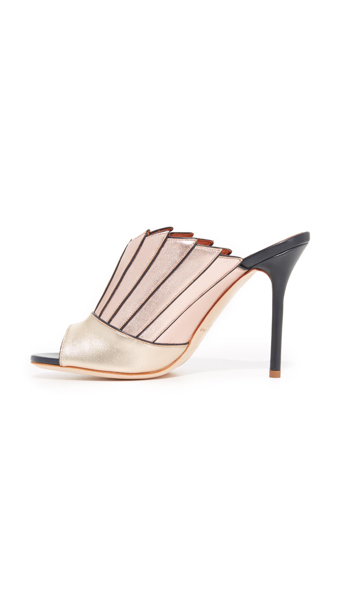 M&P Fashion - Peep-Toe donna , beige (Nude Beige), 35.5