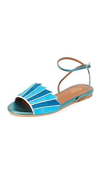 Malone Souliers Lois Flat Sandals - Hawaii/Deep Sea/Dusty Blue
