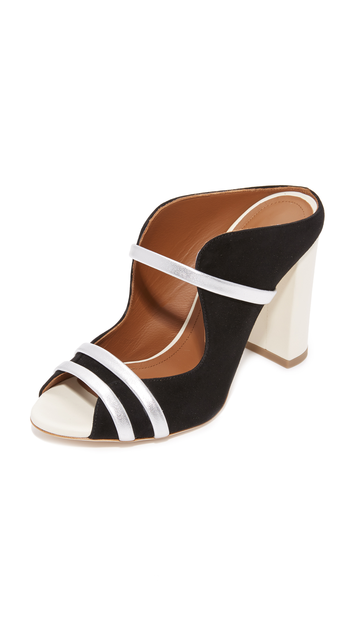 Malone Souliers Maureen Sandals - Black/White/Silver