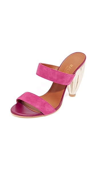 Malone Souliers Lacey Mules - Cactus Flower/Berry