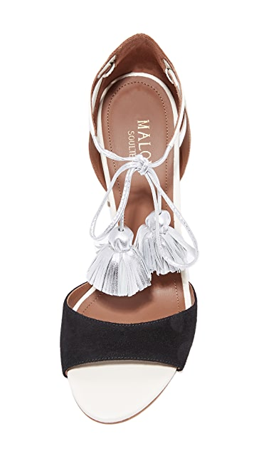 Malone Souliers Gladys Wrap Tassel Sandals