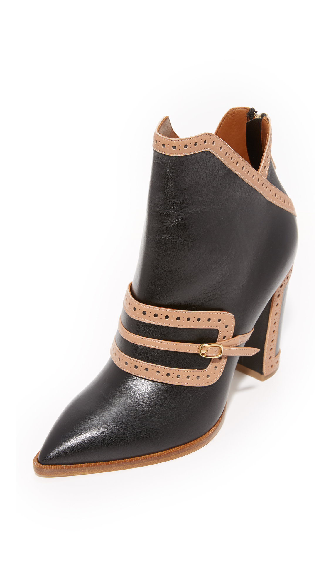 Malone Souliers Flora Booties - Black/Nude