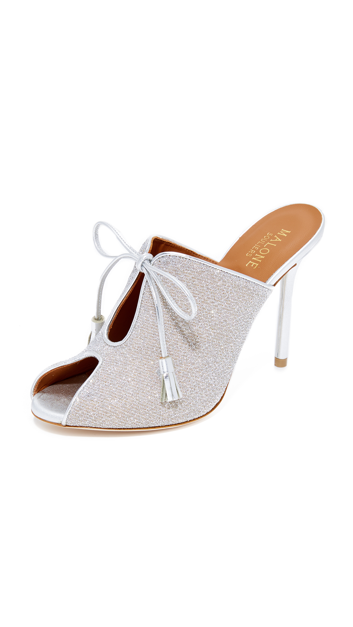 Malone Souliers Dawn Mules - Silver/Silver/Silver