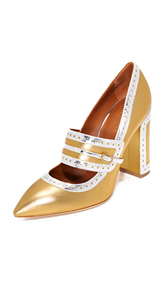 Malone Souliers Ada Pumps - Gold/Silver