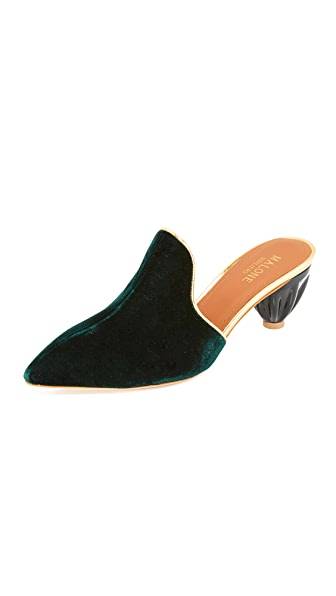 Malone Souliers Marianne Mules - Forrest/Gold