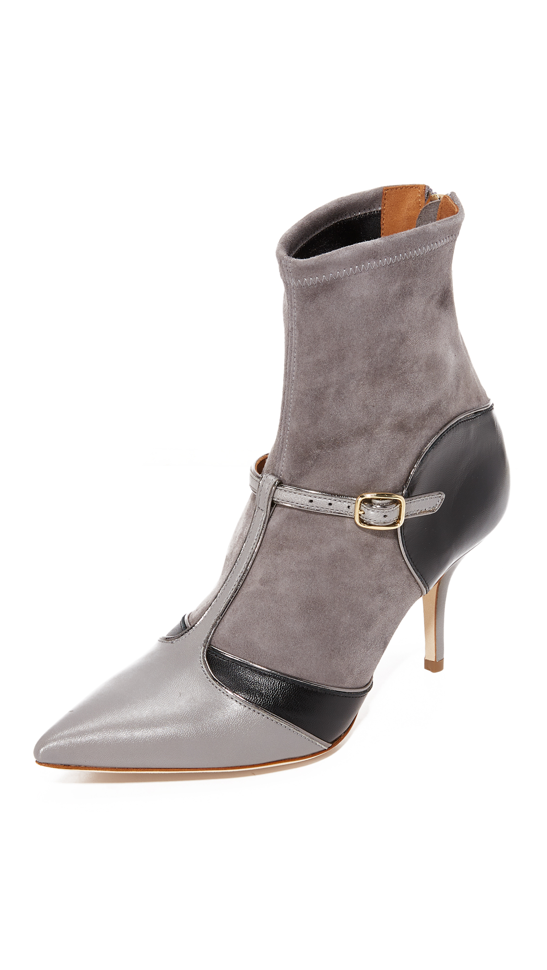 Malone Souliers Sadie Booties - Black/Grey/Dark Grey/Charcoal
