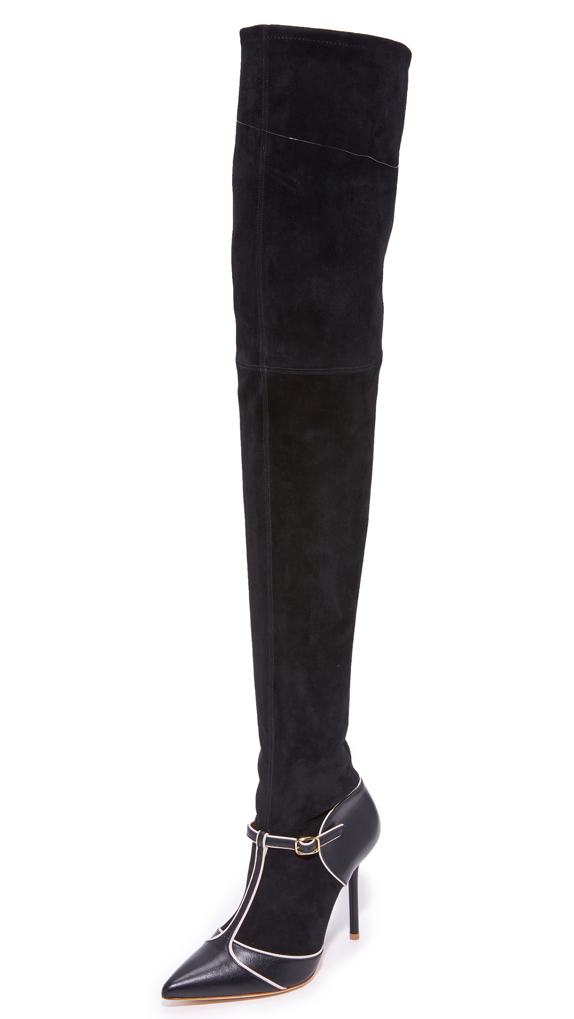 Malone Souliers Sadie Over the Knee Boots - Black/Black/Black/Light Grey
