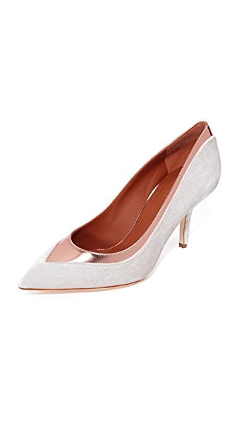 Malone Souliers Emmanuelle Pumps In Blush/Rose Gold
