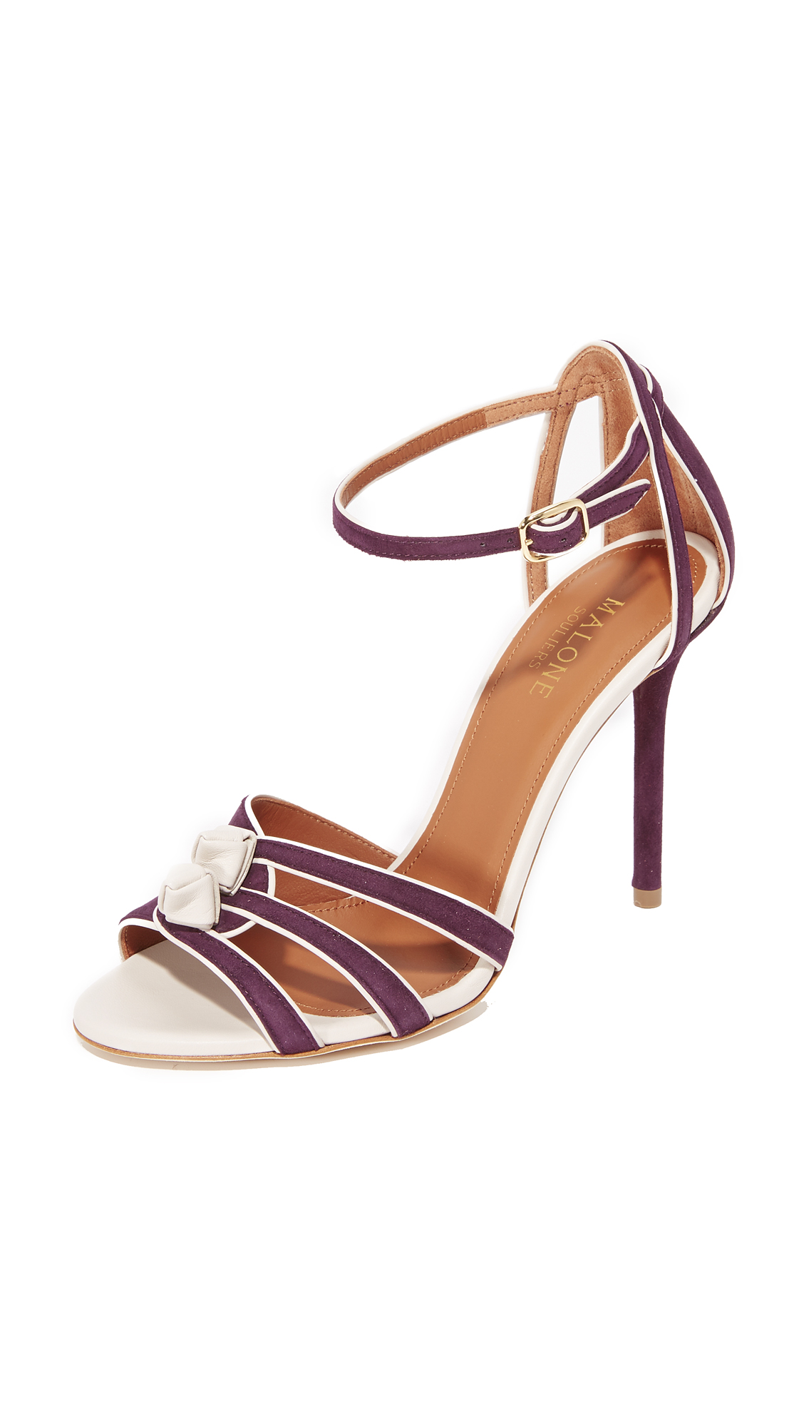 Malone Souliers Eunice Sandals - Plum/Light Grey