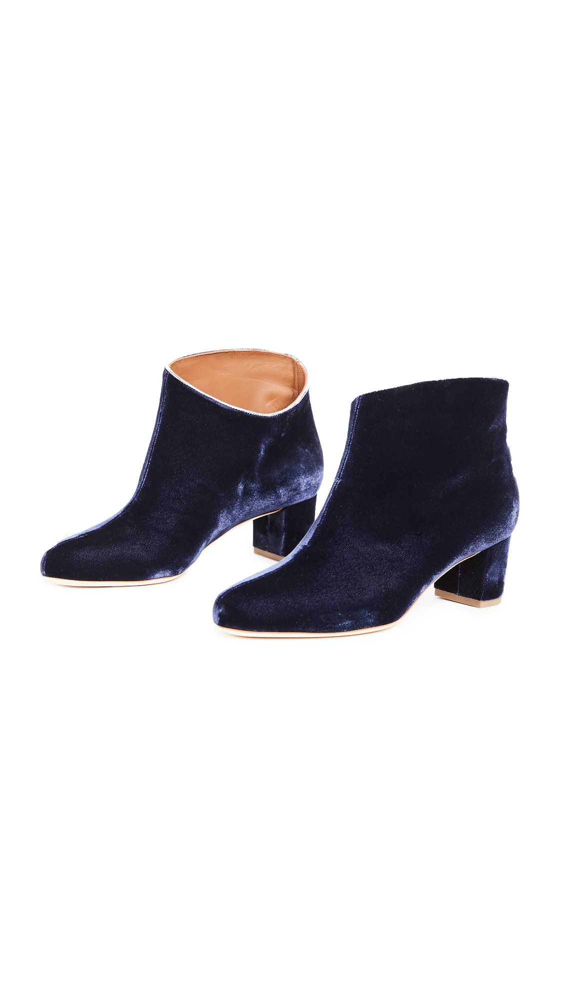 Malone Souliers Eula Mid Booties - Navy/Silver