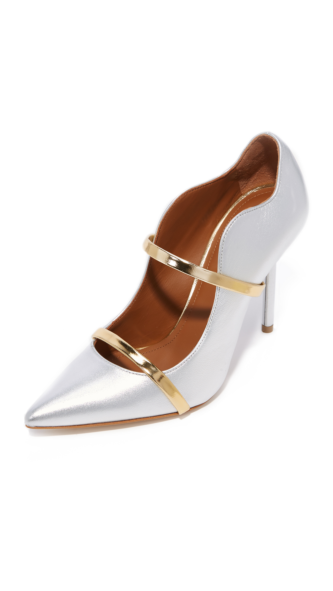 Malone Souliers by Roy Luwolt Maureen Pumps - Silver/Gold