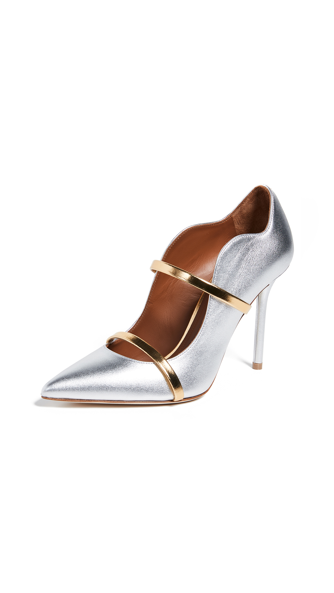 Malone Souliers Maureen Pumps - Silver/Gold