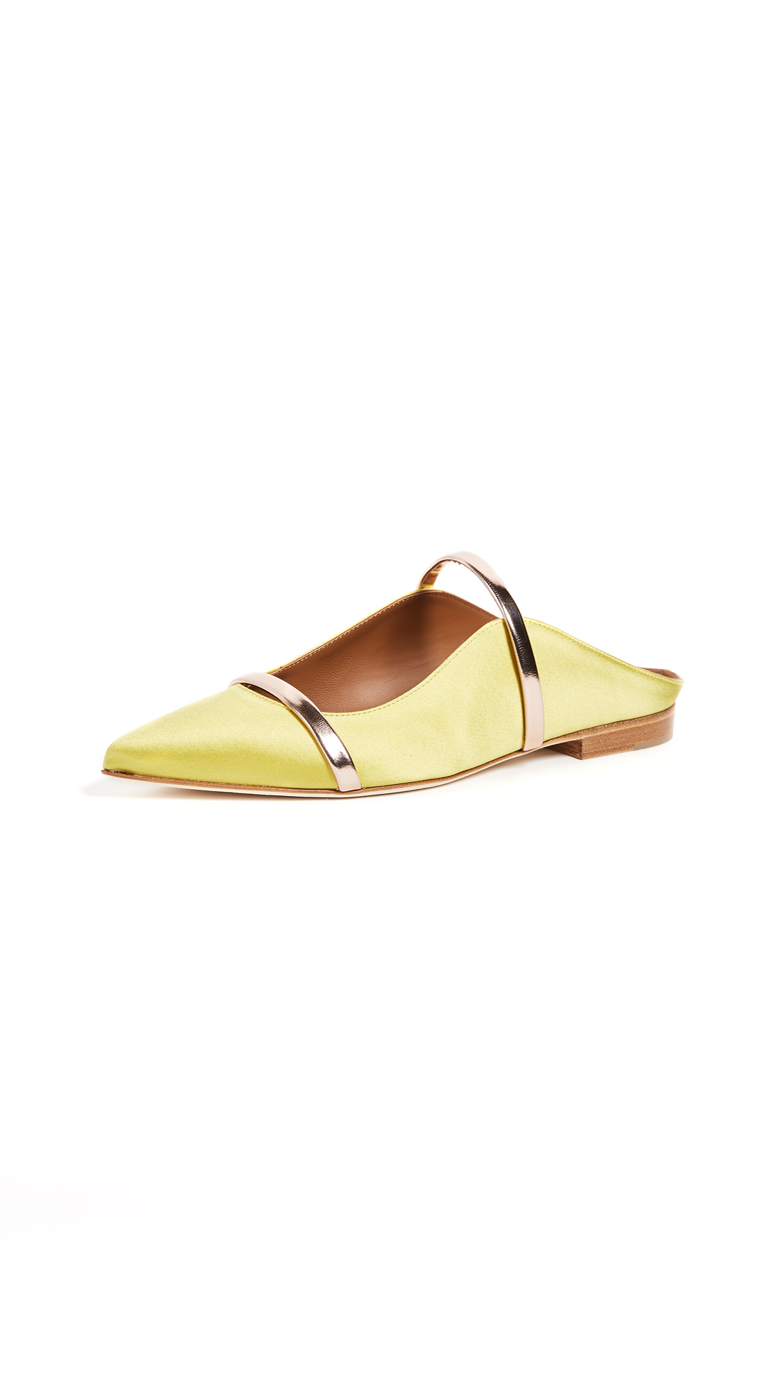 Malone Souliers Maureen Flats - Yellow/Rose Gold