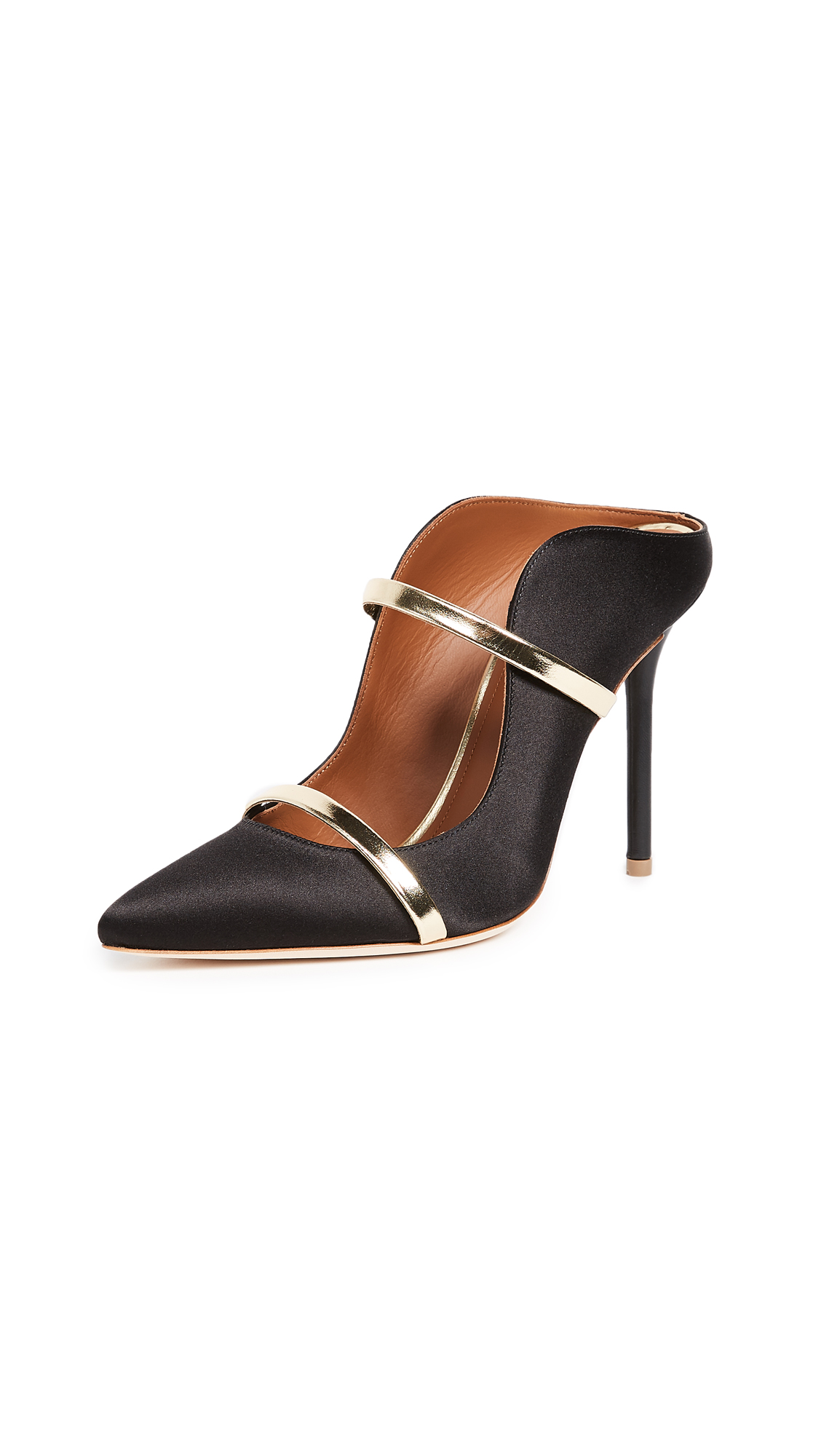 Malone Souliers by Roy Luwolt Maureen Mule Pumps - Black/Gold
