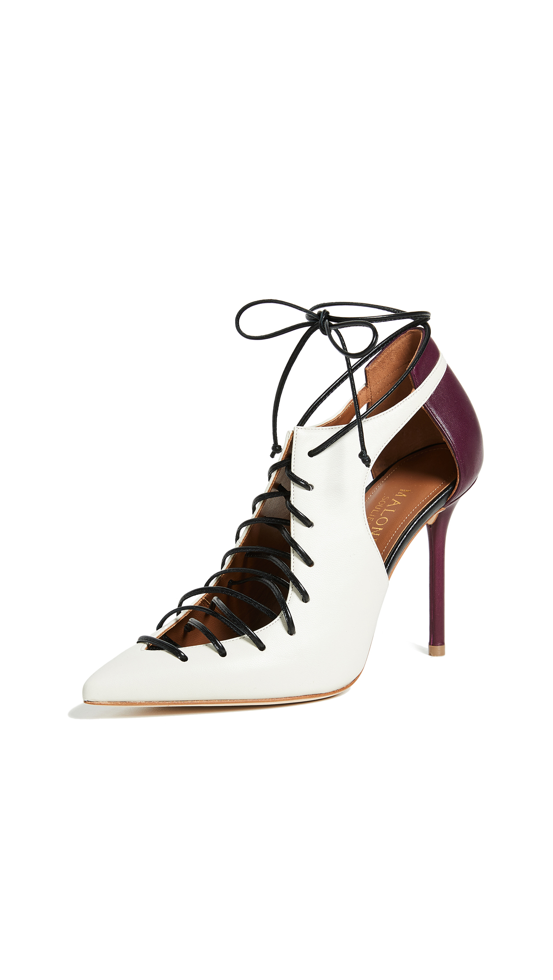 Malone Souliers Montana Booties - Ivory/Wine/Black
