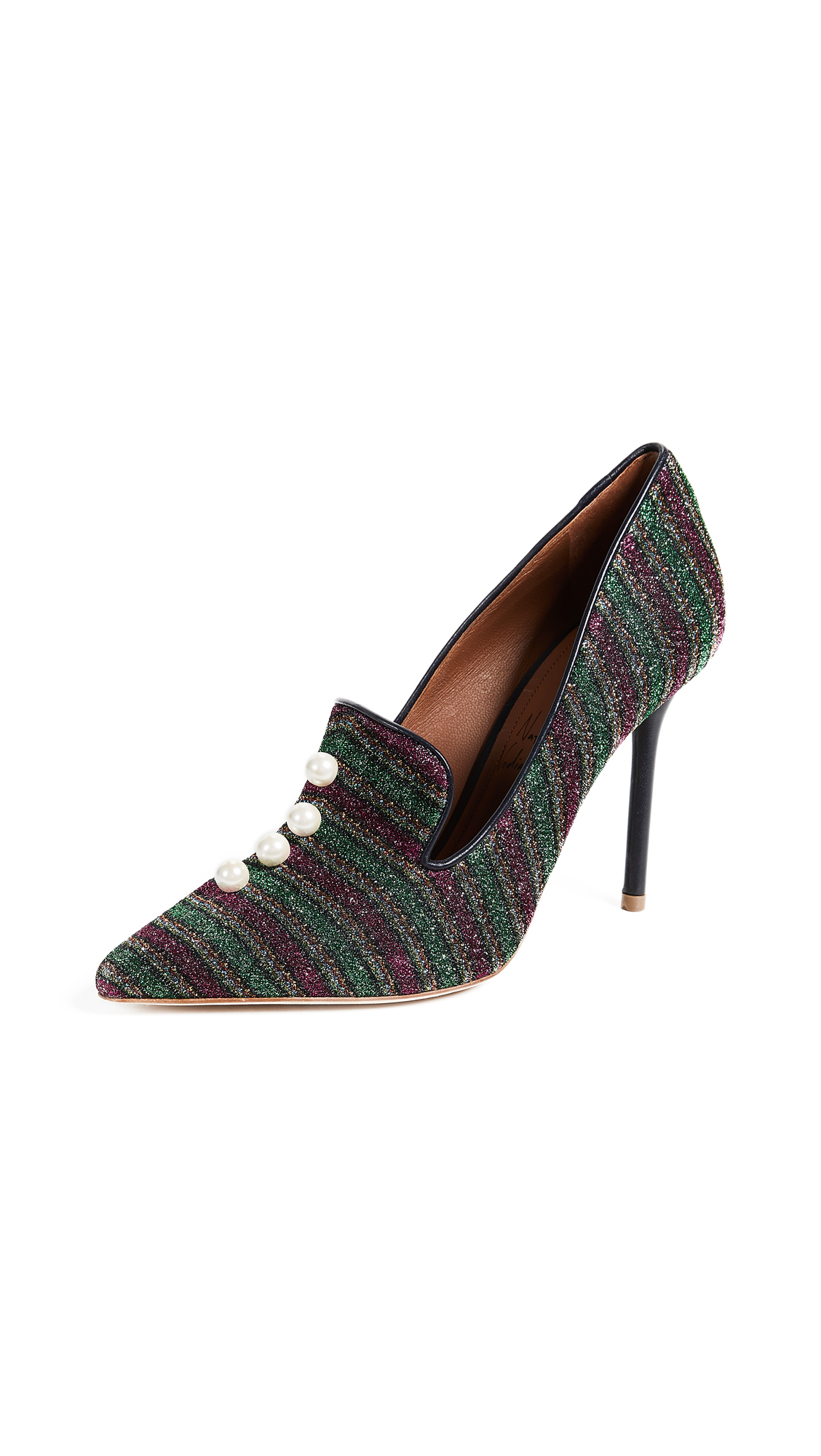 Malone Souliers Lubov Pumps - Black/Fuchsia/Green/Midnight