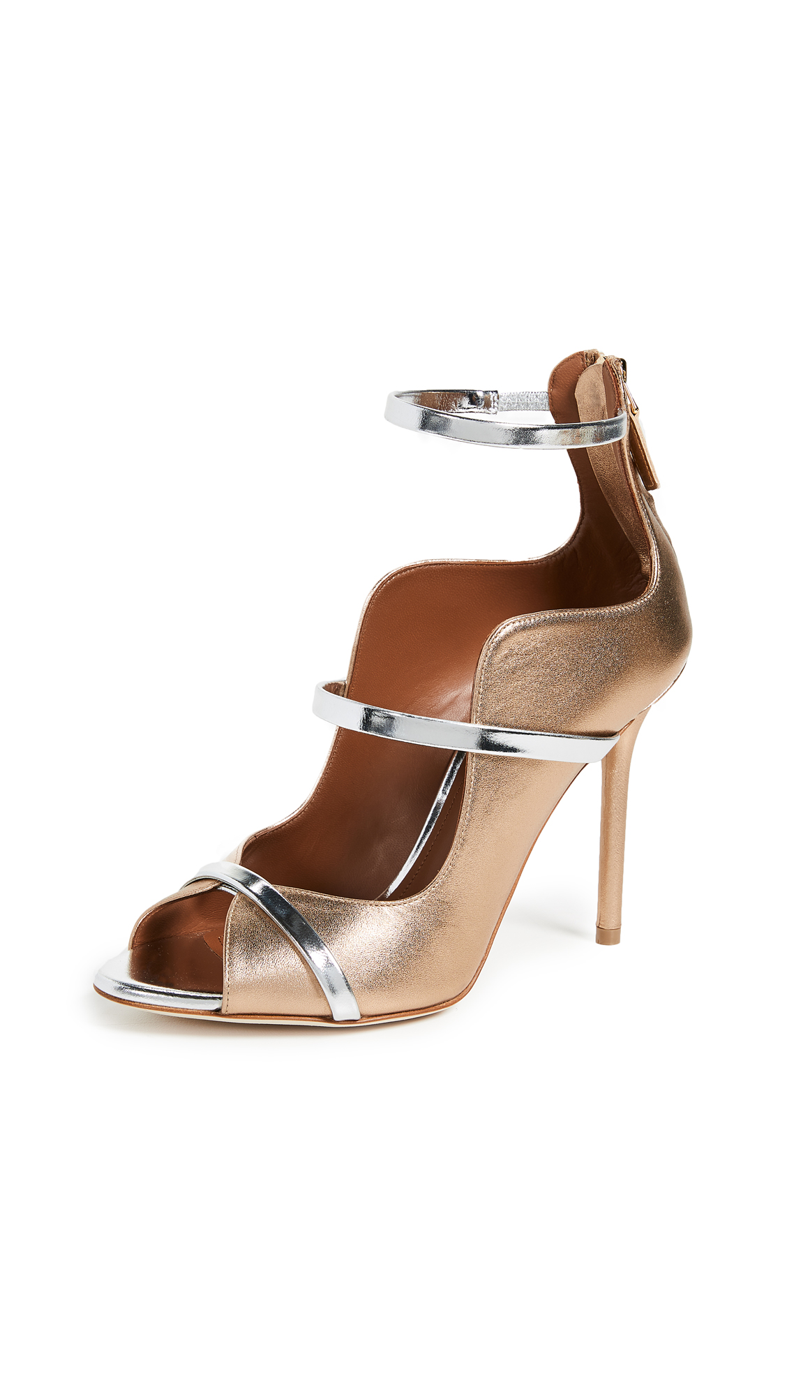 Malone Souliers by Roy Luwolt Mika Pump - Gold/Silver