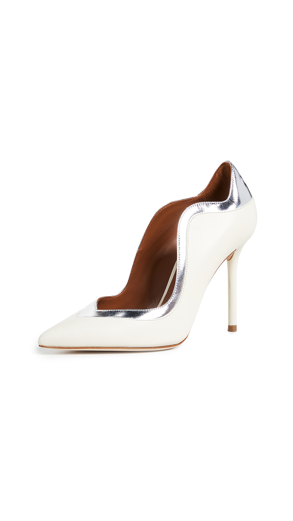 Malone Souliers Penelope Pumps - Ivory/Silver
