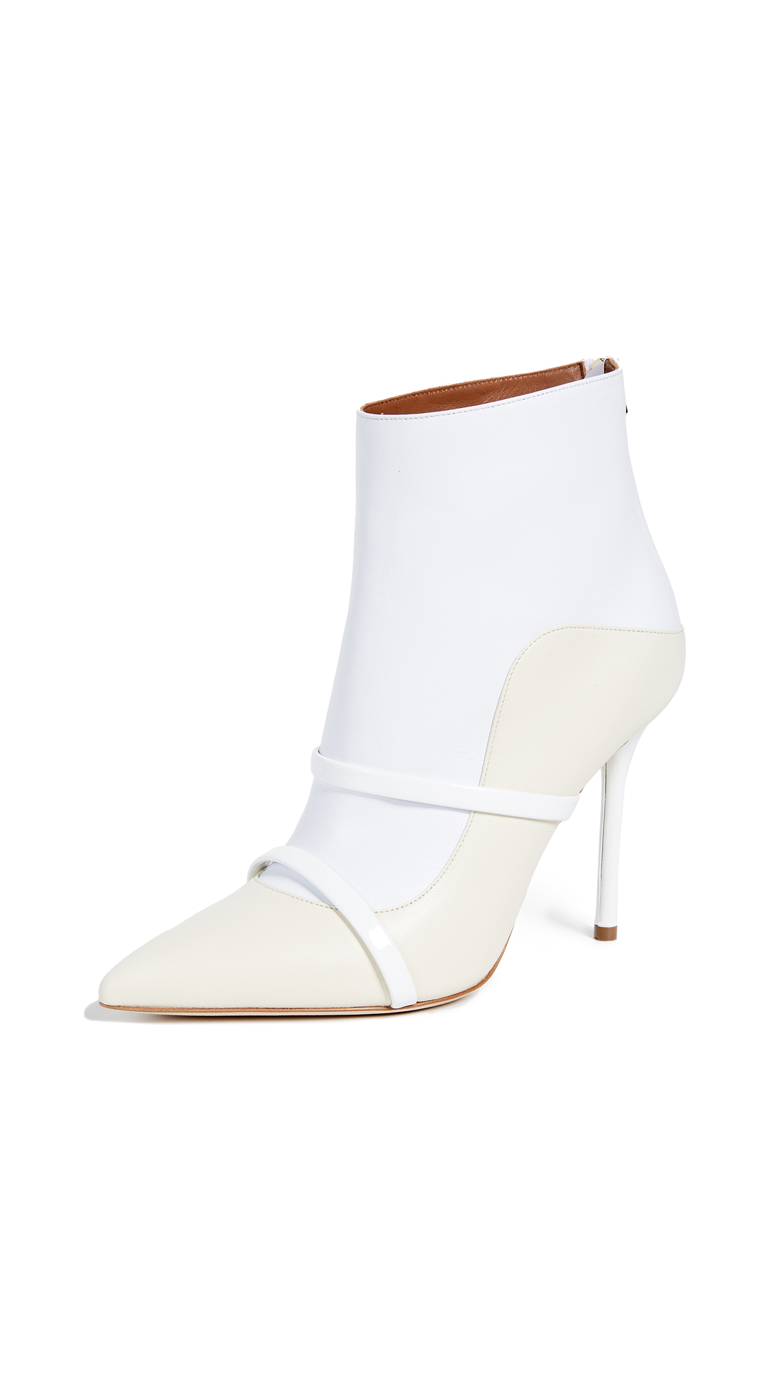 Malone Souliers by Roy Luwolt Madison Booties - White/Ivory