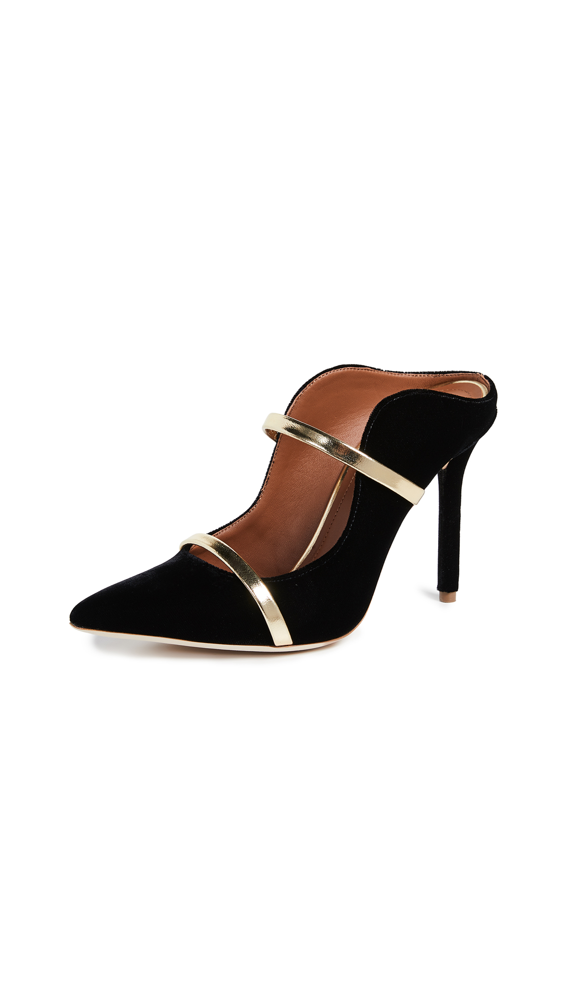 Malone Souliers by Roy Luwolt Maureen Mules - Black/Gold