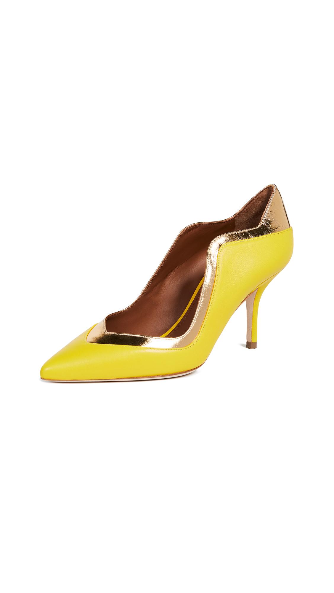 Malone Souliers Penelope 70 Pumps - Yellow/Gold