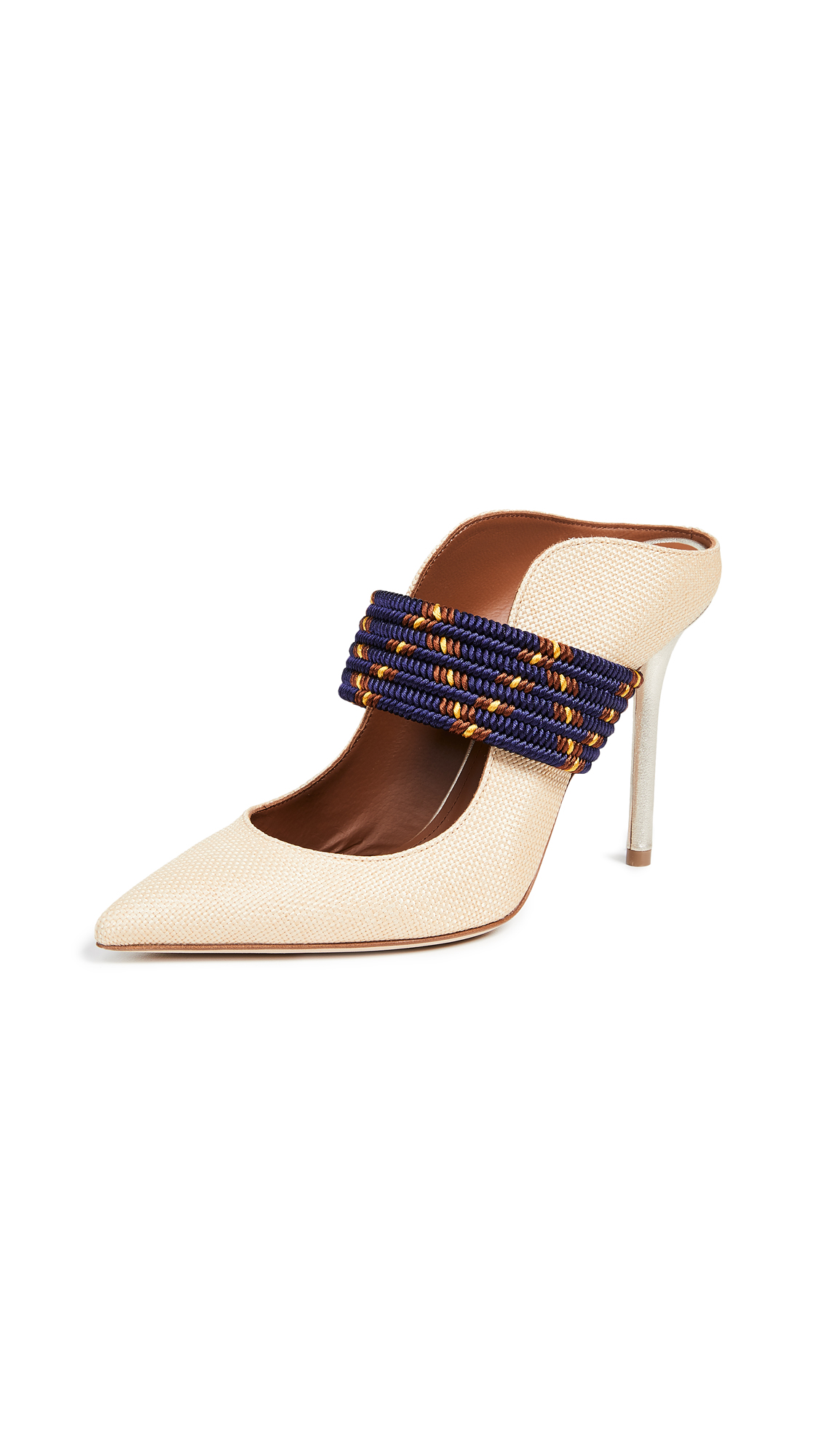 Malone Souliers by Roy Luwolt Mara 100 Mules - Gold/Midnight