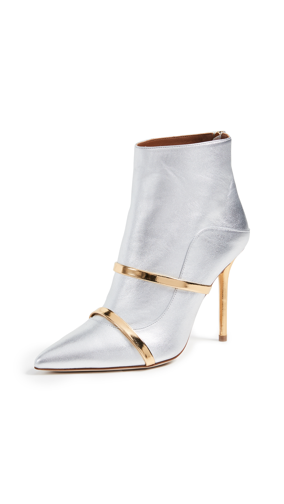 Malone Souliers by Roy Luwolt Madison Booties - Silver/Gold
