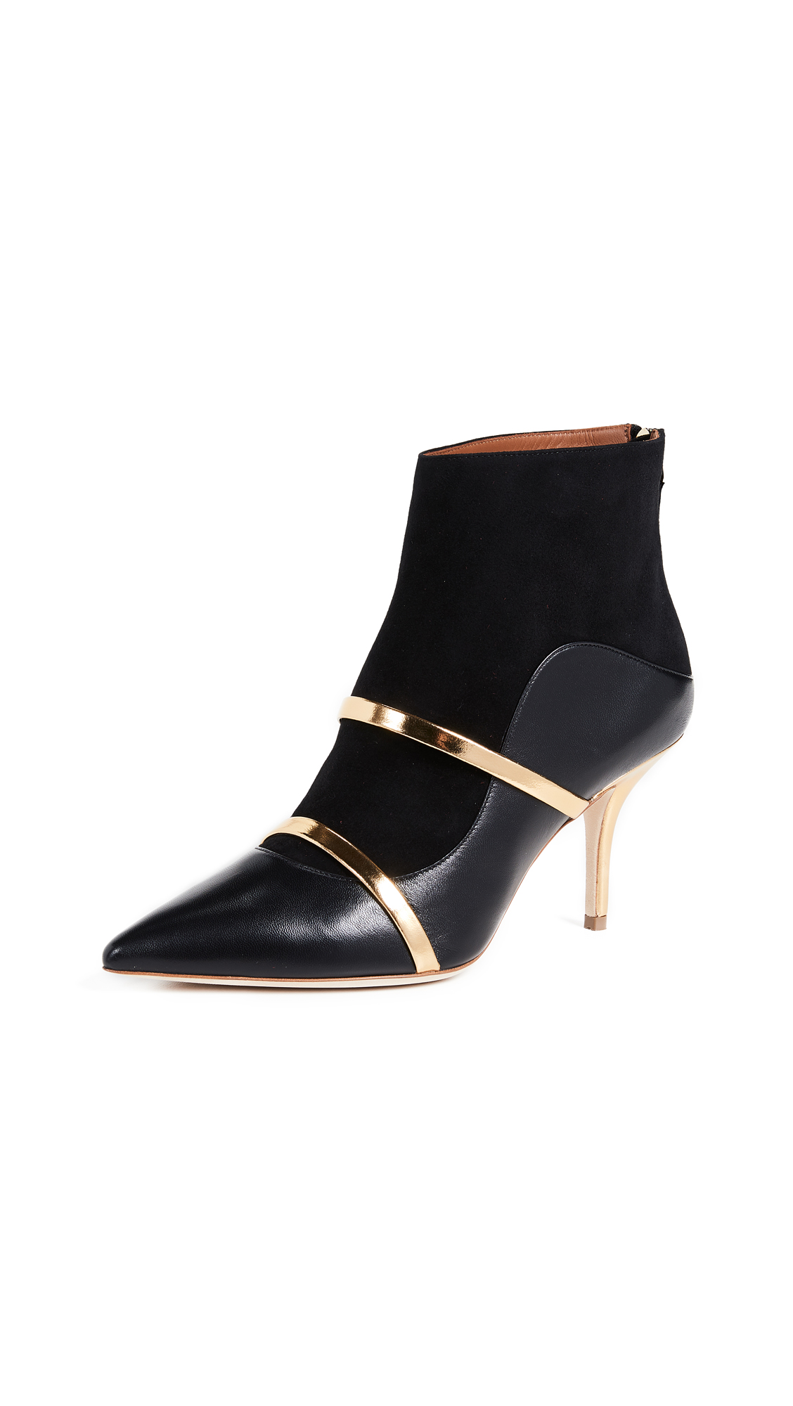 Malone Souliers by Roy Luwolt Madison 70 Booties - Black/Black/Gold