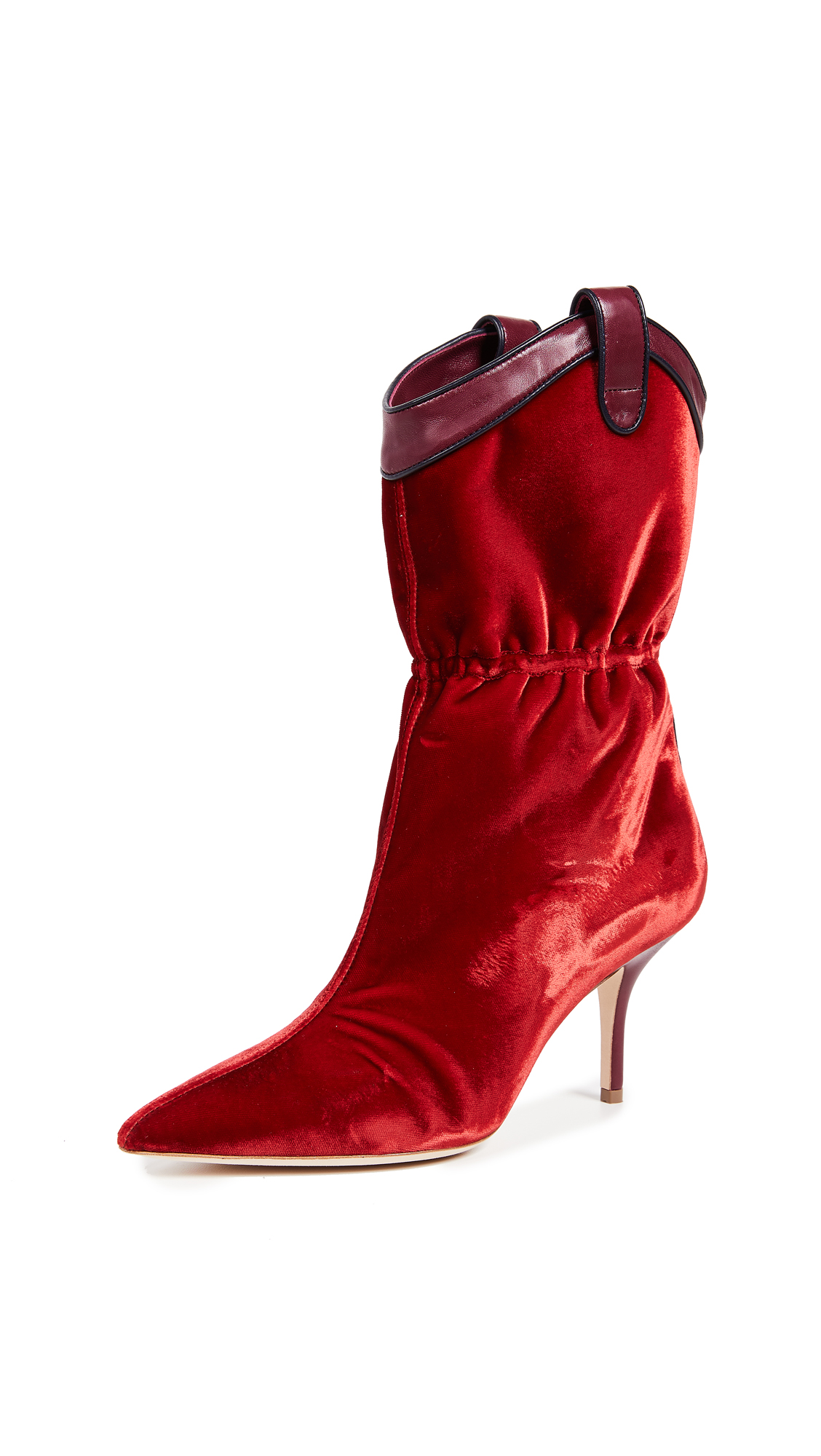 Malone Souliers by Roy Luwolt Daisy 70 Boots - Scarlet/Burgundy/Midnight