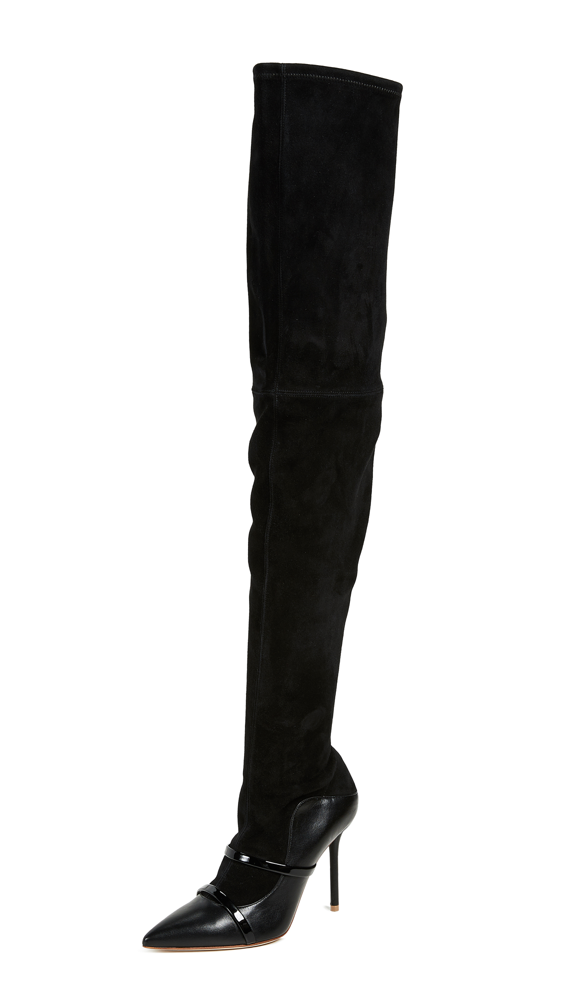 Malone Souliers Madison Over the Knee Boots - Black/Black