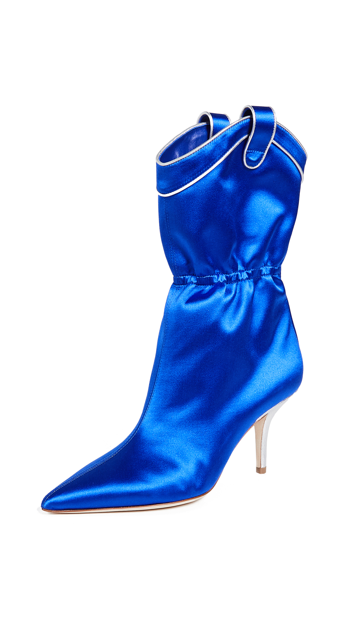 Malone Souliers by Roy Luwolt Daisy Boots - Blue/Silver