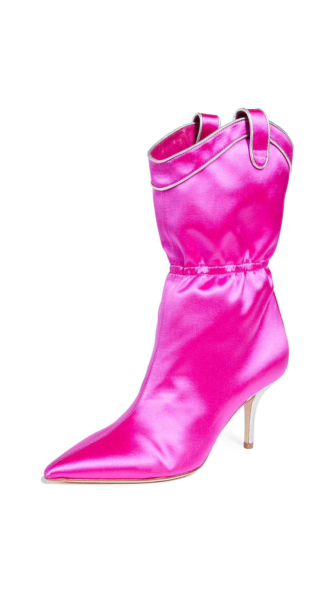 Malone Souliers by Roy Luwolt Daisy Boots - Fuchsia/Silver