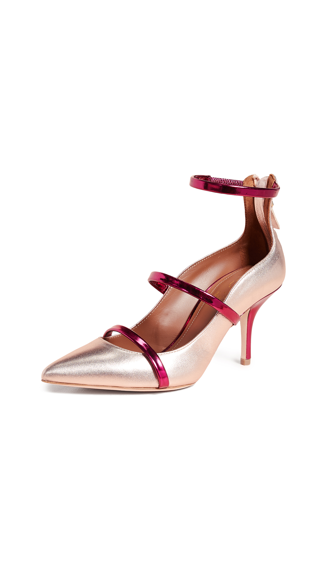 Malone Souliers by Roy Luwolt Robyn Pumps - Rose/Berry