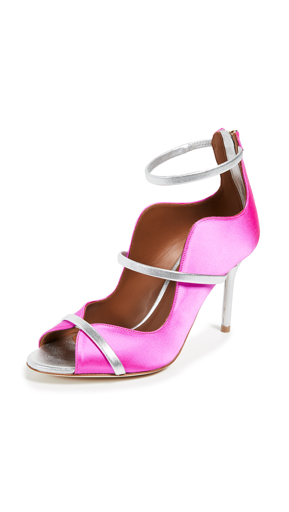 Malone Souliers by Roy Luwolt Mika Pumps - Fuchsia/Silver