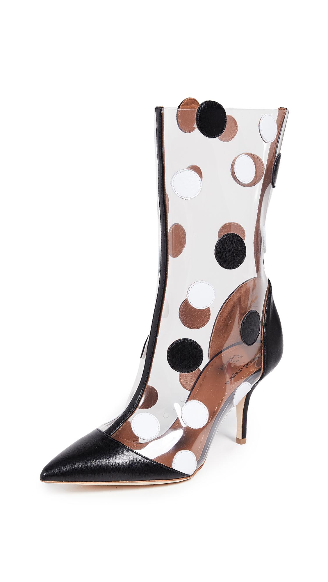 Malone Souliers Katoucha Ungaro Boots - Black/White