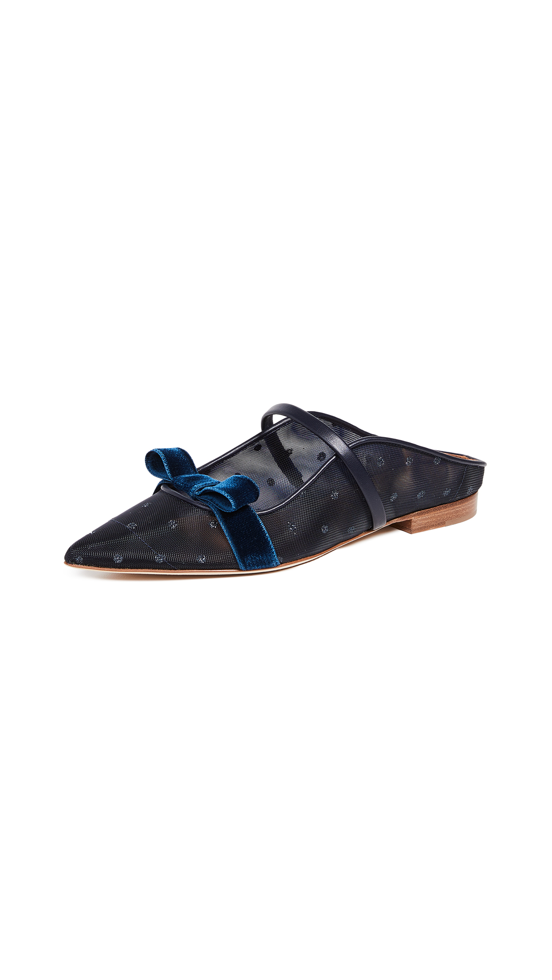 Malone Souliers Marguerite Mules - Blue/Midnight