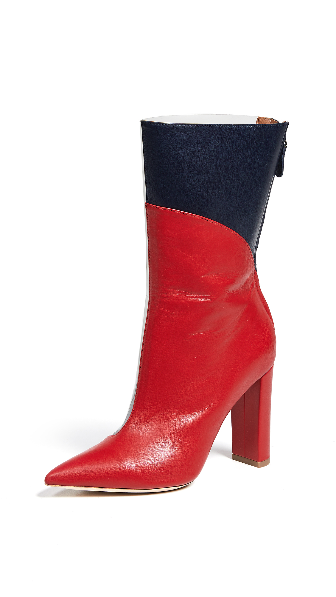 Malone Souliers Blaire 100 Boots - Grey/Red/Midnight